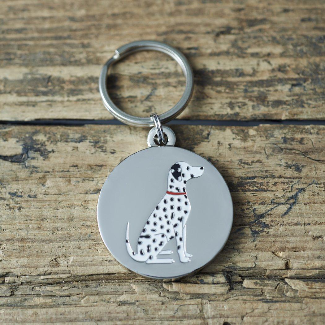 Dalmatian dog tag / keyring