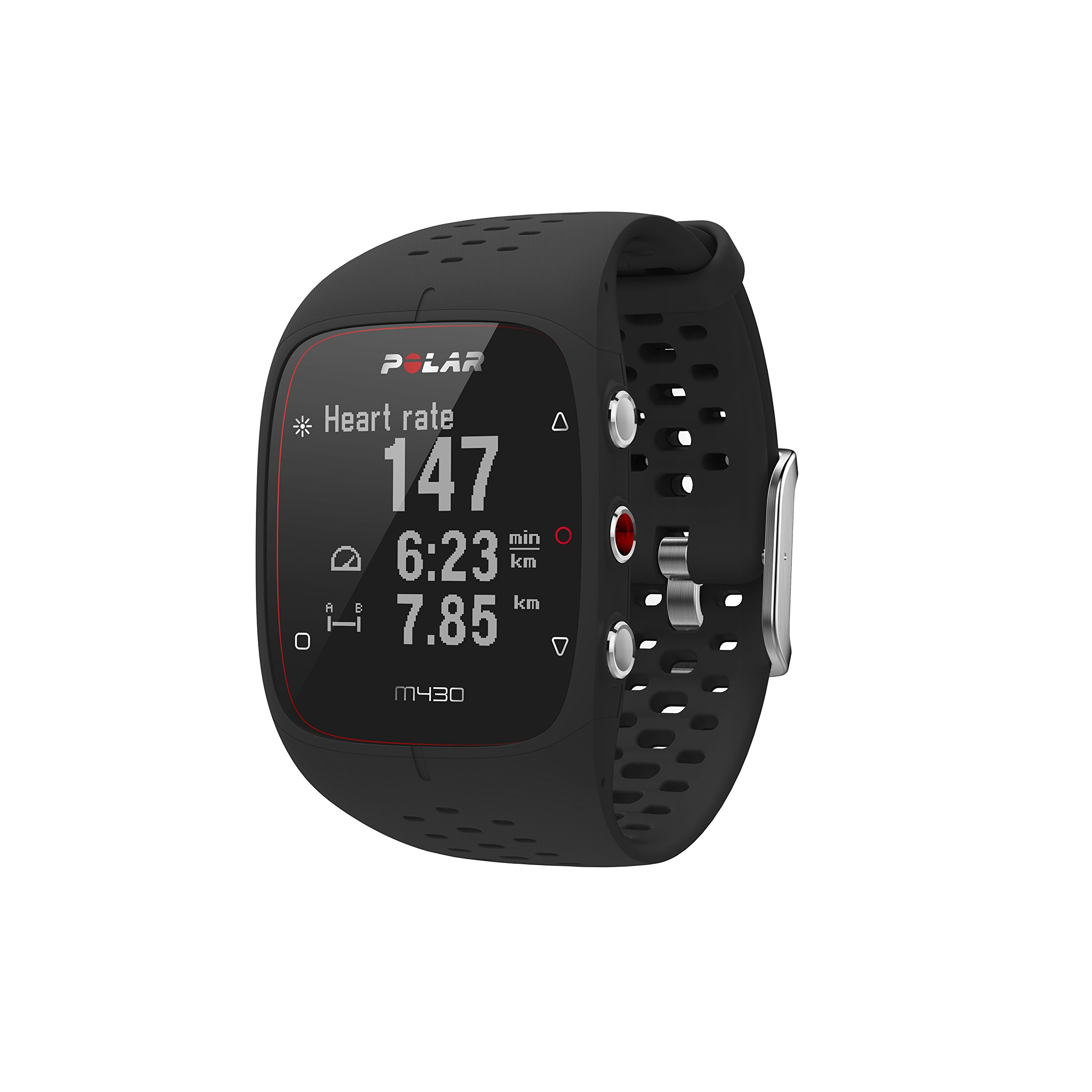 Polar M430 Reloj de Running con GPS, Adultos Unisex, Negro, S