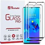 Tentoki Verre Trempé pour Huawei P30 Pro, [Lot de 2] [Couverture Complète] Film Protection Ecran Vitre HD, [sans Bulles, Faci