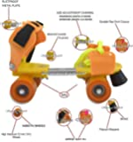 Supreme Deals Designed Roller Adjustable Inline Skating Shoe with Front Break for Kids (4-12 Years)