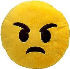 Nitsha Emoji Angry Smile Pillow
