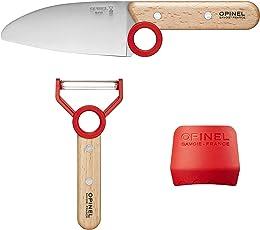 Opinel Le petit Chef, Kinder-Küchenmesser-Set, 3-teilig