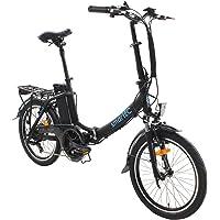 smartEC Camp-20D Klapprad E-Bike, 20 Zoll, Anfahrhilfe, 7 Gänge, Fahrunterstützung 25 km/h, Reichweite 100 km, Samsung…