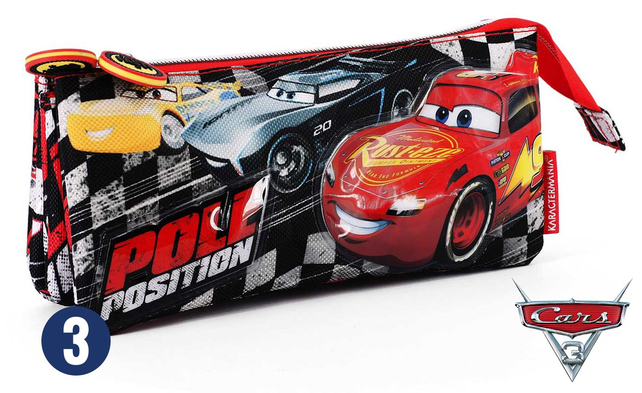 Karactermania Cars 3 Pole Estuches, 24 cm, Negro