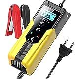 AUTOXEL Chargeur de Batterie, 6V/12V Chargeur et Mainteneur Batterie pour Voiture, Chargeur Moto Portable avec LCD Écran Plus