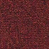 Teppichboden Auslegware | Schlinge gemustert | 400 und 500 cm Breite | rot | Meterware, verschiedene Größen | Größe: 4 x 5m