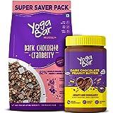 Yogabar Dark Chocolate Peanut Butter and Muesli Combo | Dark Chocolate Peanut Butter - (400gm ) | Dark Chocolate Muesli - ( 7