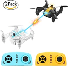 AG-03 Mini Battle Drone, Remote Control Drone, 2.4Ghz Sensore giroscopico a 6 assi, pieghevole Quadcopter con 360°Flips con modalità Headless, One Key Start / Landing (una coppia)