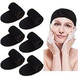 6 Pcs Bandeaux de Maquillage Visage, Bandeau Cosmétiques Femme Bandeaux Spa Cheveux Beauté Femme Yoga Visage Bain Maquillage