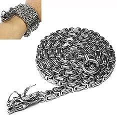 Wolfman Outdoor Voll Edelstahl Selbstverteidigung Buddha Perlen Halskette Ketten Hand Armband Kette