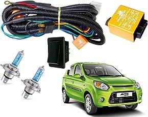 Autopearl Halogen Headlamp Wiring Harness Kit for Maruti Suzuki Alto 800 (Set of 3)