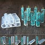 7pcs Perles Gemme Silicone Moule Pendentif Bracelet Résine Fabrication Bijoux Outils