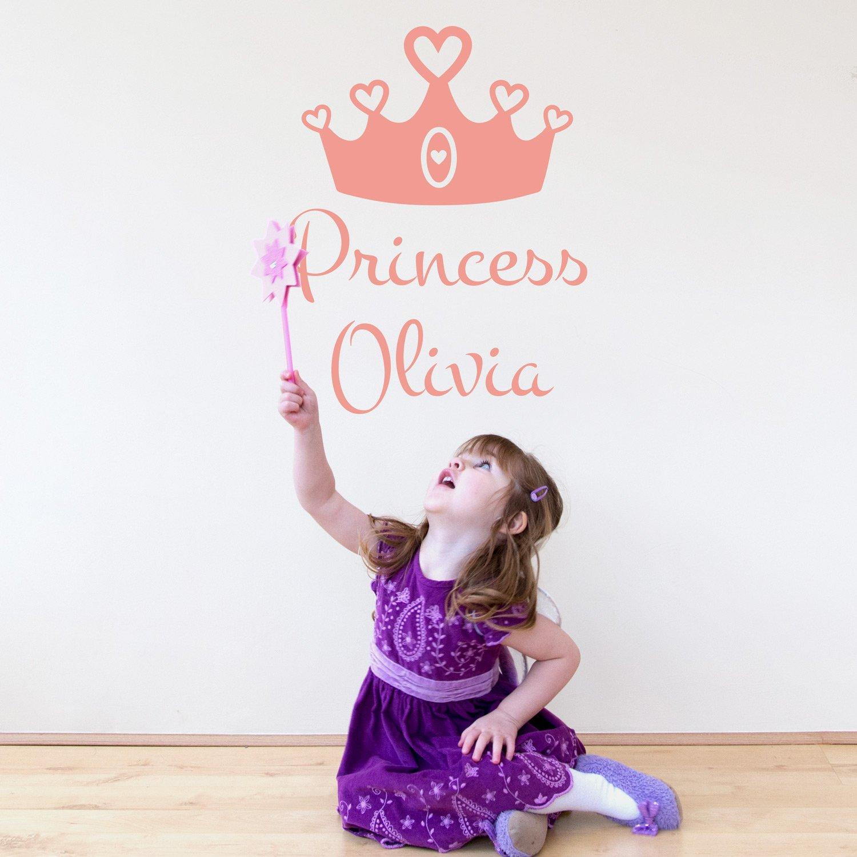 Personalizzati principessa adesivo da parete corona Stickerscape ...