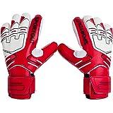 Sportout Jeugd Goalie Doelman Handschoenen,Sterke grip voor de zwaarste Saves, met vingerstekels om prachtige bescherming te