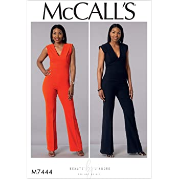 53b2bab5fe3 McCall s Patterns 7292 A5 Sizes 6-14 Misses Miss Petite Jumpsuits ...