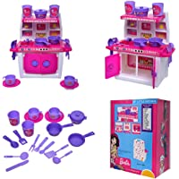 ToyDor Barbie Doll Kitchen Set for Kids Girls Toys for Kids Non Toxic BPA Free Material Used Kitchen Play Set( Medium…