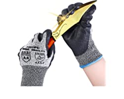 Business Discount Cut Resistant Gloves High Performance Level 5 Protection Safety Work Gloves for Men Comfortable PU Coated P