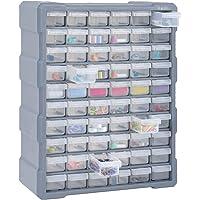 Festnight Mobile Contenitore Cassettiera Box Porta Minuteria per Officina con 39/60 Cassetti Multiuso 38x16x47 cm…