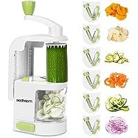Sedhoom Coupe-Legumes Spirale Manuel, Spiraliseur de légumes avec 6 Lames, Coupe Legumes Multifonctions à Spaghetti de…