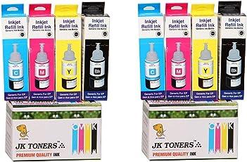 JK Toners Compatible with EPSON L100 / L110 / L130 / L200 / L210 / L220 / L300 Multi Color Ink