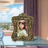 Handicrafts Paradise Antique Floral Motif Victorian Style Aluminium Metal Photo Frame (19 cm x 1.2 cm x 23.5 cm)