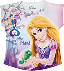 DISNEY PRINCESS Purple Polyester Top For Girls DPS0019