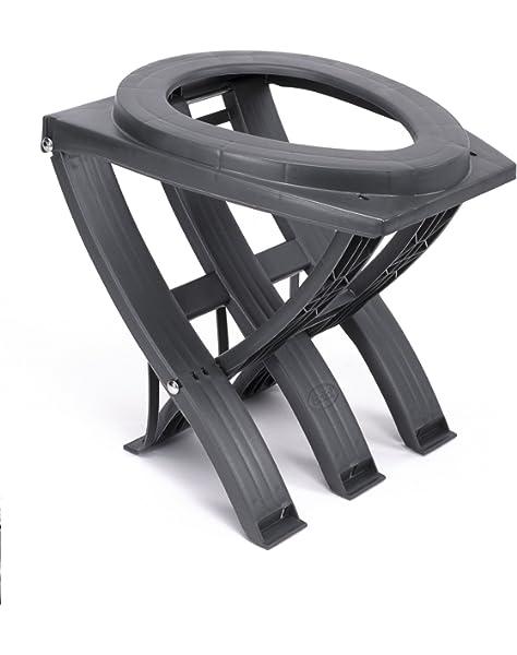 zusammenklappbar Wandern Baustellen und mehr tragbar perfekt f/ür Camping Toilettenstuhl Ausfl/üge Komfortstuhl Green Elephant Toilettensitz