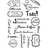 Français motsTransparent Tampons De Silicone Transparents pour DIY Scrapbooking/Fabrication De Cartes/Enfants De Noël Amus