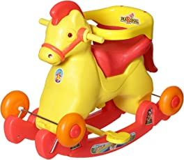 Archana Nhr Fashionable 2 In 1 Horse Rocker 'N' Ride On (Red)