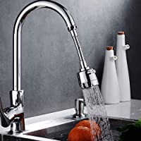 Zovali Stainless Steel Flexible 360 Degree Rotating 2 Modes Water Saving Faucet |Faucet for Kitchen Sink |Water Faucet…