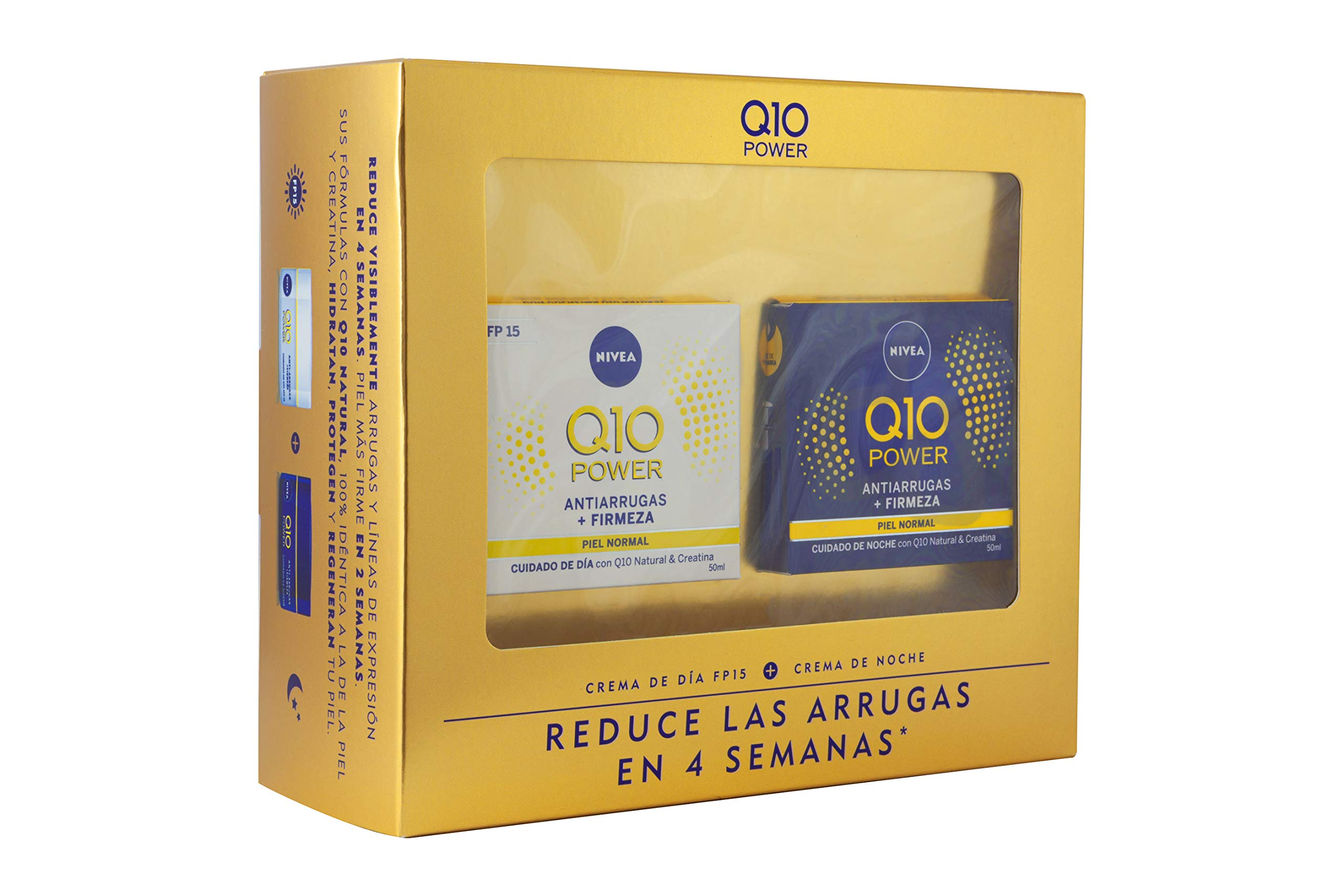 Nivea Q10 Power Set de Cremas para Reducir las Arrugas en 4 Semanas, Día y Noche  (2 x 50 ml)