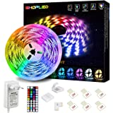 Tiras LED 5M, SHOPLED Luces LED RGB 5050 con Control Remoto de 44 Botones, 150 Tira LED 20 Colores 8 Modos de Brillo y 6 opci