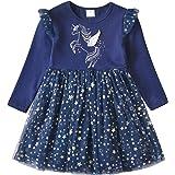 DXTON Vestidos para Niñas Vestido de Unicornioio Vestido de Princesa Ropa de Fiesta para Niños 2-8 Años