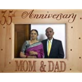 TIED RIBBONS 35th Anniversary Gift for Mom Dad Photo Frame (6.8x8.7 inch)