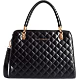 Lino Perros Black Faux Leather Handbag