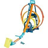 Hot Wheels Track Building Pista Triple Looping, pista de coches de juguete (Mattel GLC96) , color/modelo surtido