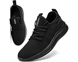 FUJEAK Men Road Running Shoes Trainers Lightweight Breathable Tennis Gym Casual Comfortable Slip on Fitness Sport Jogging Sho