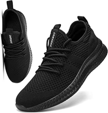 FUJEAK Men Road Running Shoes Trainers Lightweight Breathable Tennis Gym Casual Comfortable Slip on Fitness Sport Jogging Shoes Fashion Athletic Sneakers