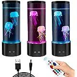 GOESWELL Mini kwallen sfeerlamp, kwallen lamp, nachtlamp magische lamp met 6 kleurveranderingen licht decompressiecadeau voor
