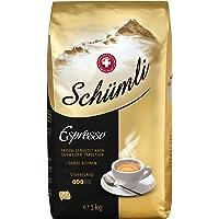 Schümli Espresso Ganze Kaffeebohnen (1kg, Stärkegrad 3/5, Premium Arabica) 1er Pack x 1kg