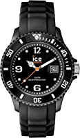 Ice-Watch - Ice Forever Black - Montre Noire Mixte avec Bracelet en Silicone - 000133 (Medium)