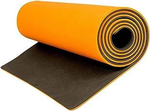 AEROLITE Premium Double Colour Yoga/Fitness Mat (8.5mm, Orange, Grey)