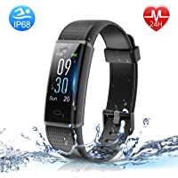 HolyHigh Fitness Band Heart Rate & Sleep Monitor Smart Band with Call Whatsapp Messages Alert Digital Watch Step Counter Calorie Counter Smart Fitness Tracker for Mens Women Boy Girl