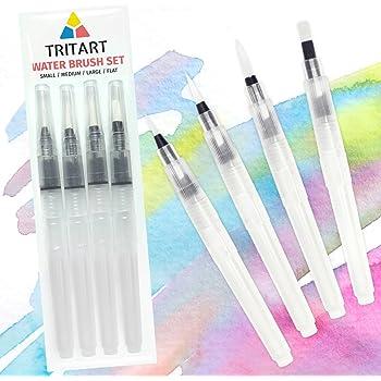 6xWasser Brush Pinsel Aquarell Kalligraphie Malerei Werkzeug Wassertank S//M//L