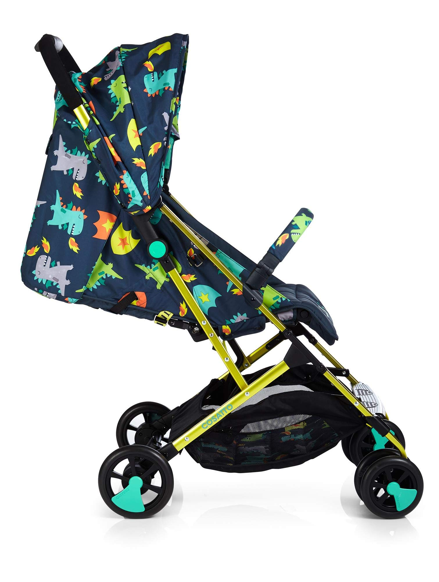 Cosatto CT4253 Woosh 2 Dragon Kingdom 7.2 kg Cosatto Suitable from birth to max weight of 25kg, lets your toddler use it for even longer Lightweight, sturdy aluminium frame New-born recline 2