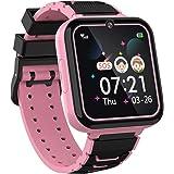 """Kinderen Smartwatch voor jongens meisjes telefoon - 1.54"""" HD touchscreen smartwatch met twee weg oproep SOS zaklamp Games Muz"""
