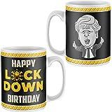 Purple Print House Happy Lockdown Birthday Mug, 2021 Boris Johnson, Novelty Mugs, Funny Gifts for Men Women Gift Present 18th