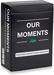 OUR MOMENTS Kids: 100 Thought Provoking Conversation Starters for Great Parent-Child Relationship Building - Fun Car Travel,