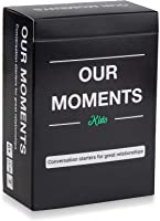 OUR MOMENTS Kids: 100 Thought Provoking Conversation Starters for Great Parent-Child Relationship Building - Fun Car...