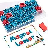 FUQUN Letras Magnéticas (212 Piezas)para Ninos, con Tablero Magnético de Doble Cara, Alfabeto de Espuma para Ortografía y Apr